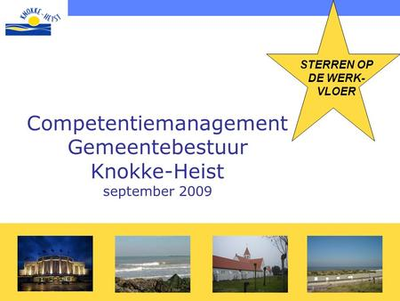 Competentiemanagement Gemeentebestuur Knokke-Heist september 2009