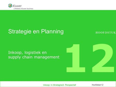 Inkoop, logistiek en supply chain management