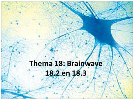Thema 18: Brainwave 18.2 en 18.3.