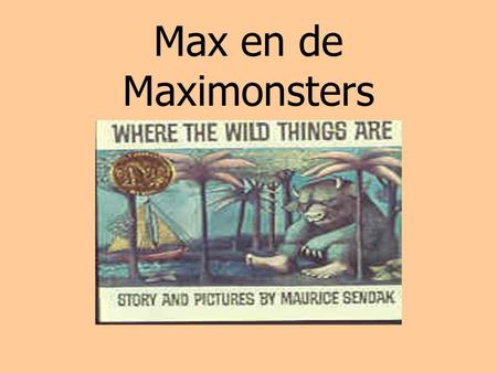 Max en de Maximonsters.