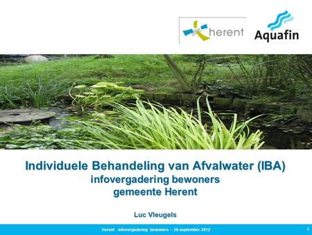 Herent - infovergadering bewoners – 26-september-2012