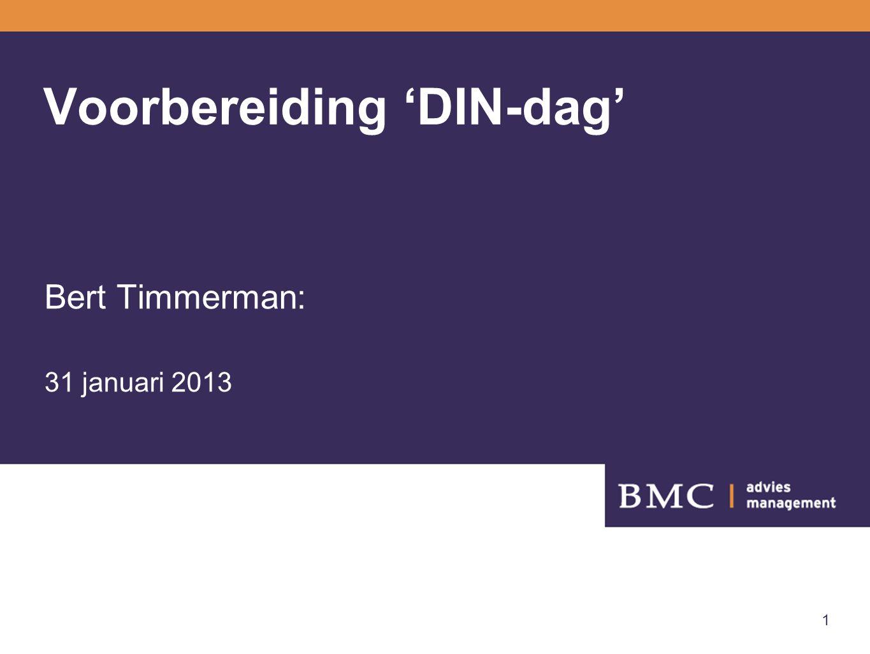 2 Opzet -Inleiding -Kijken naar organisaties en teams -Voorstel agenda 'DIN-dag'