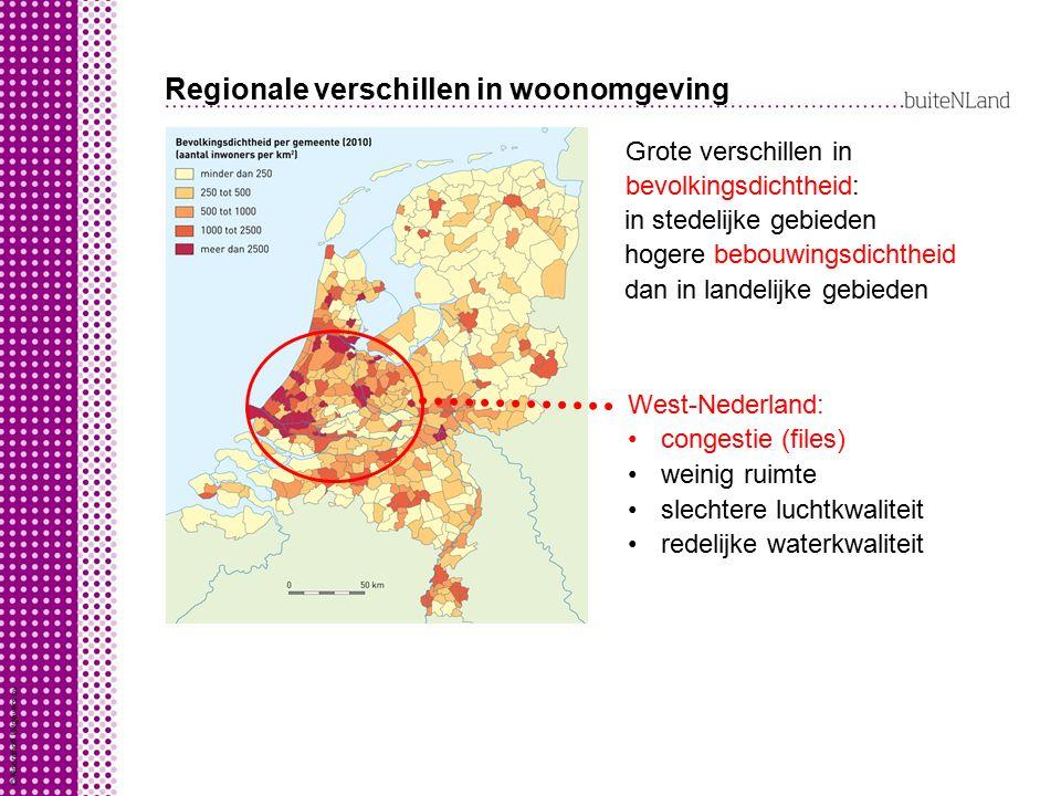 Regionale verschillen in gezondheid Door verschillen in woonomgeving ook verschillen in gezondheid en levensverwachting in Randstad lagere levensverwachting in dorpen rond steden hogere levensverwachting ook tussen wijken in de steden verschillen in levensverwachting