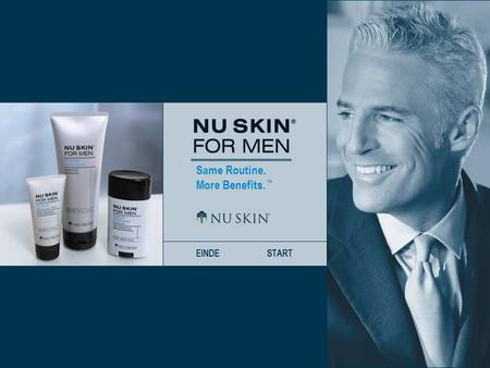 Same Routine. More Benefits. ™ EINDESTART. Same Routine. More Benefits. ™ VORIGE VOLGENDE HOME Maak kennis met Nu Skin ® For Men Dividends ™ Shave CreamDividends.