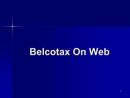Belcotax On Web.