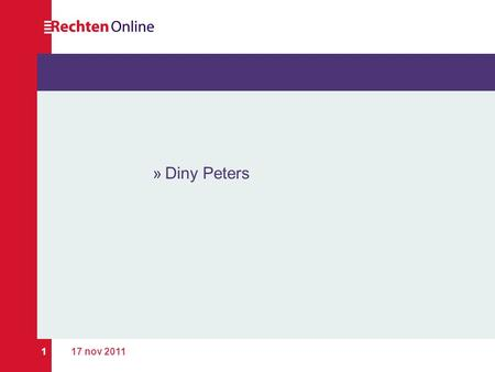 Diny Peters 17 nov 2011.