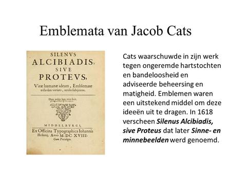 Emblemata van Jacob Cats