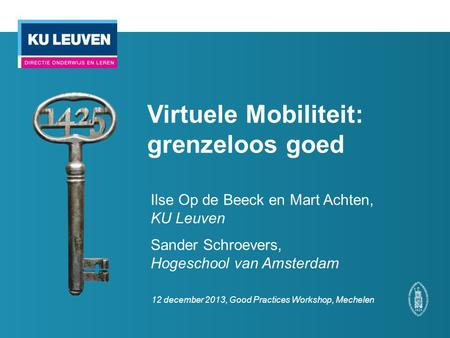 Virtuele Mobiliteit: grenzeloos goed