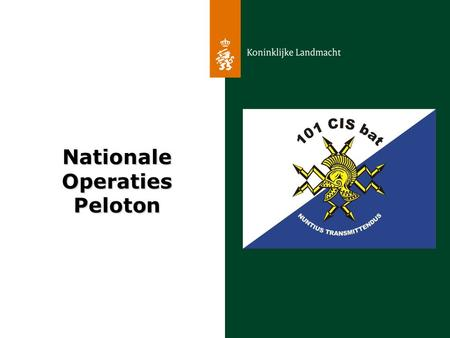 Nationale Operaties Peloton.