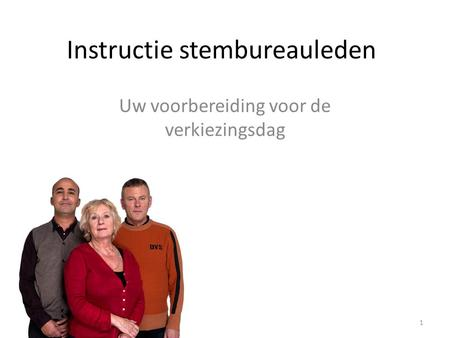 Instructie stembureauleden
