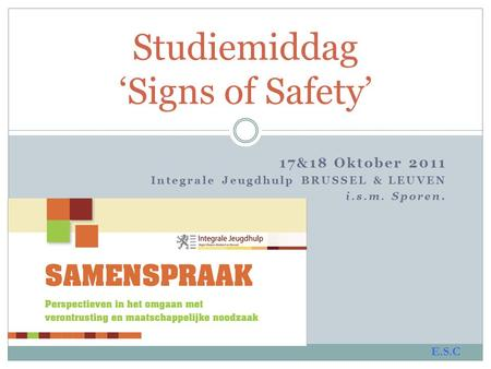 Studiemiddag 'Signs of Safety'