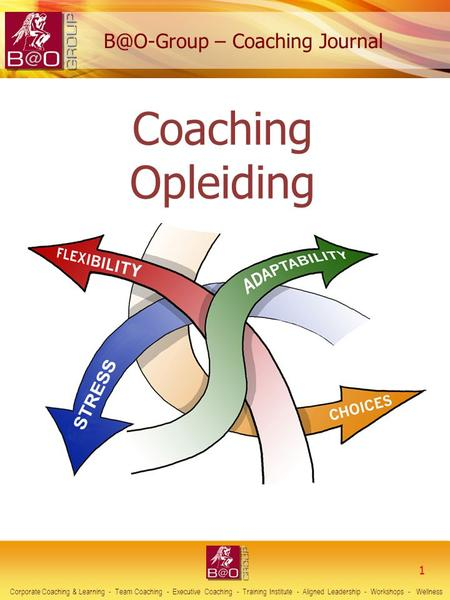 1 Corporate Coaching & Learning - Team Coaching - Executive Coaching - Training Institute - Aligned Leadership - Workshops - Wellness Coaching Opleiding.