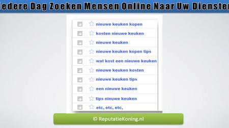 © ReputatieKoning.nl. The Online Marketing Game Has Just Changed Your Company Name / Branding.