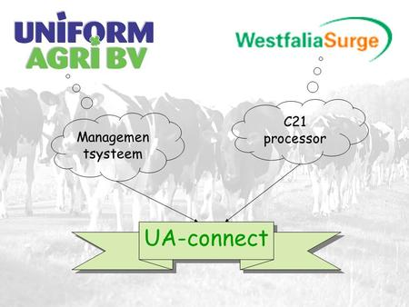 C21 processor Managemen tsysteem UA-connect. UA-connect: wat is het en wat is het voordeel? •Compleet geïntegreerd managementpakket met alle verplichte.