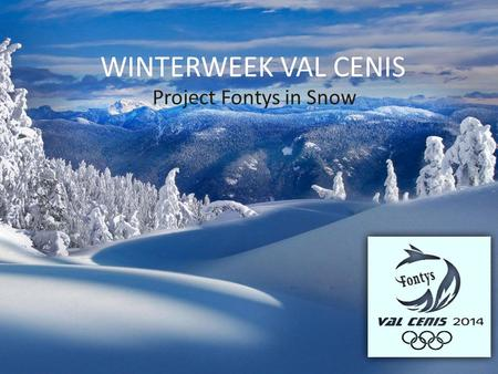 WINTERWEEK VAL CENIS Project Fontys in Snow.