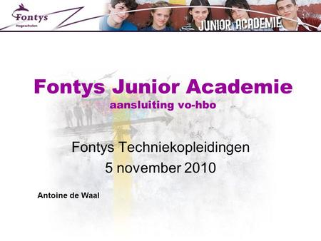Fontys Junior Academie aansluiting vo-hbo