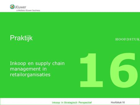 Inkoop en supply chain management in retailorganisaties