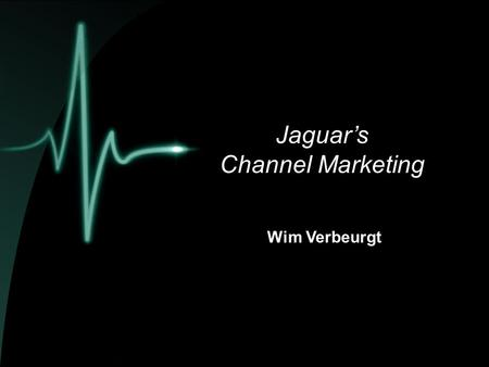 Jaguar's Channel Marketing Wim Verbeurgt.  Jaguar  Block Exemption  Jaguar's Channel Marketing  kanaalstructuur  aantal dealers  contract / standaarden.