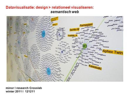 Datavisualisatie: design > relationeel visualiseren: semantisch web