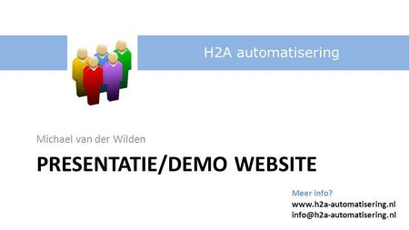 Presentatie/demo website
