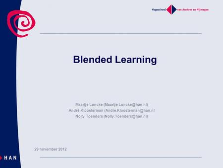 Blended Learning Maartje Loncke (Maartje