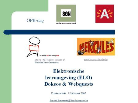 Pedagogisch ICT-project : ELO met WebQuests 'If you can dream it, you can do it.'