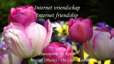 Internet vriendschap Internet friendship Powerpoint by Roosje Muziek (Music) - The Cats - Lea.