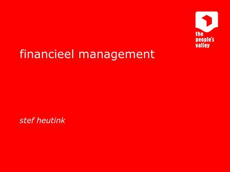 Interactive marketing communications financieel management stef heutink.