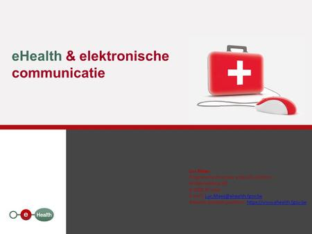 eHealth & elektronische communicatie
