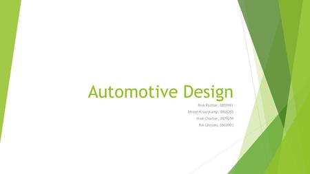 Automotive Design Rick Richter, Jeroen Kraaijkamp,