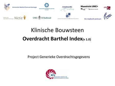 Overdracht Barthel Index(v 1.0)