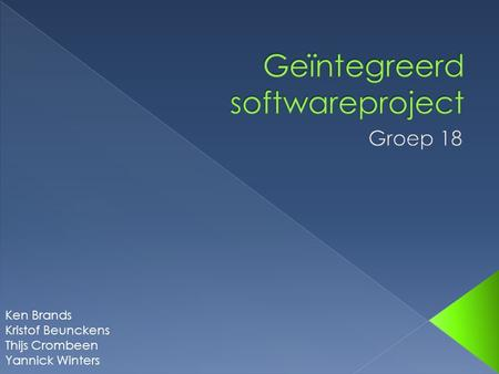 Geïntegreerd softwareproject