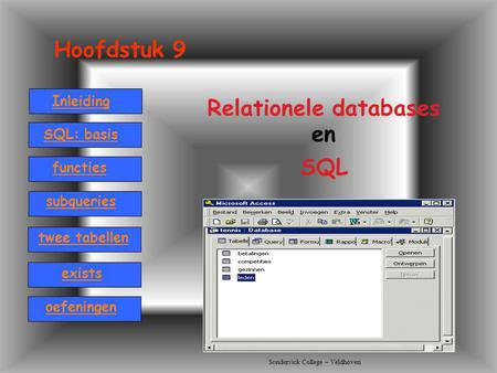 Relationele databases en