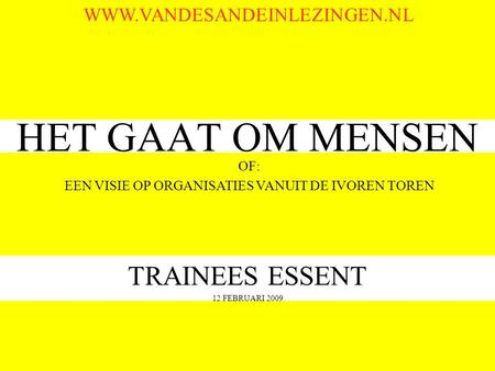 TRAINEES ESSENT 12 FEBRUARI 2009