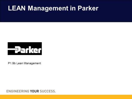 LEAN Management in Parker