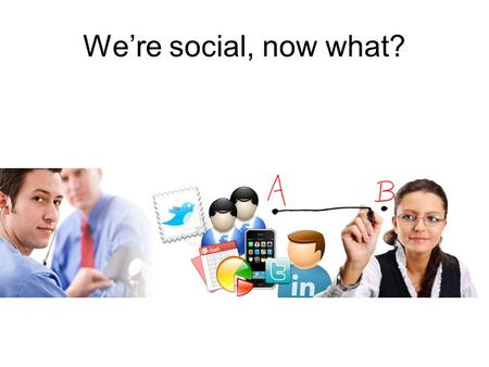 We're social, now what?. Hoe belangrijk is social media/online?