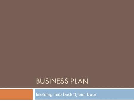 Business plan laten schrijven met