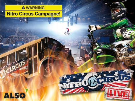 Nitro Circus Campagne Doelstelling campagne  Rumour around the brand  Salesboost  Loyaliteit  Relatie management Doelgroep Managed SMB (500 kopende.