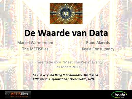 Marcel Warmerdam The METISfiles