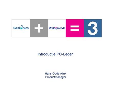0 – Introductie PC-Leden – 28 juni 2005 Introductie PC-Leden Hans Oude Alink Productmanager.
