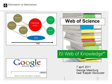 1 Web of Science 7 april 2011 George Meerburg naar Kasper Abcouwer.