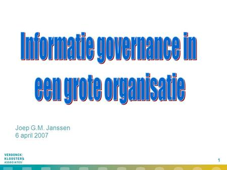 Informatie governance in