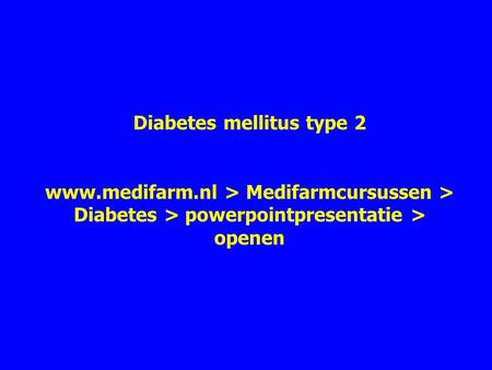 Diabetes mellitus type 2 www. medifarm