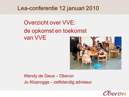Lea-conferentie 12 januari 2010