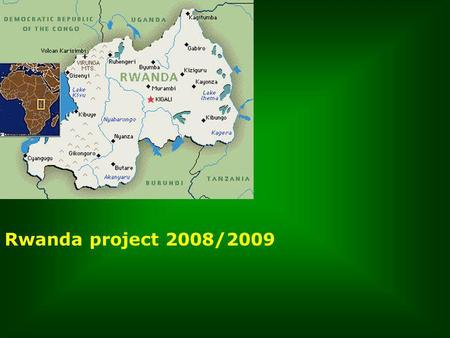 Rwanda project 2008/2009. Verzoeningsproject van de organisatie People for People in Kigali.