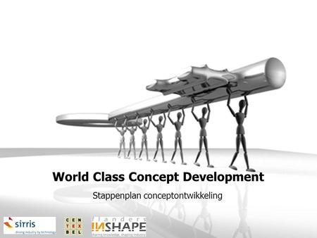 World Class Concept Development Stappenplan conceptontwikkeling.
