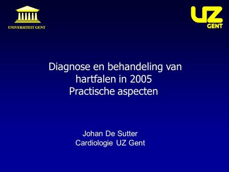 Diagnose en behandeling van hartfalen in 2005