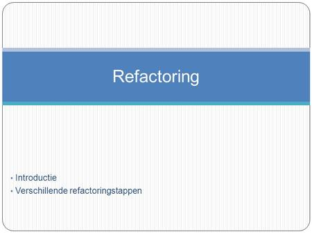 refactoring thesis A library providing automated refactoring support for scala  if you plan to work  on the library, you should definitely take a look at mirko stockers master theses.