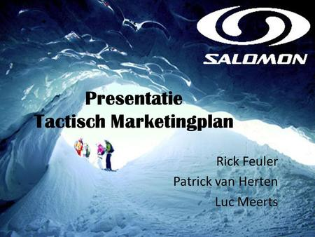Presentatie Tactisch Marketingplan