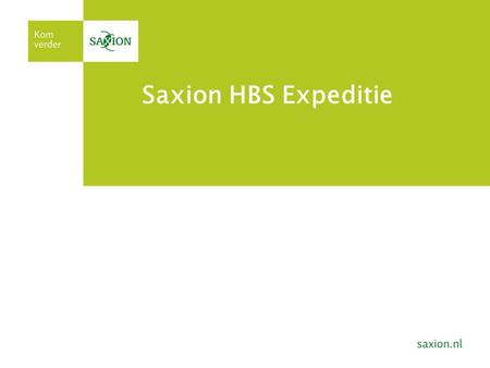 Saxion HBS Expeditie.